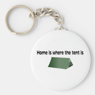 Home Is Where The Tent Is Keychain