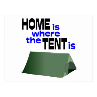 Home Is Where The Tent Is Postcard