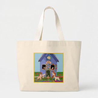 Home is Where the Wheaten Is Large Tote Bag