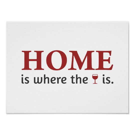 Home IS where the wine IS Poster