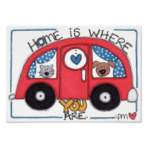 "Home Is Where You Are 10"" x 14"" Camper Love Print"