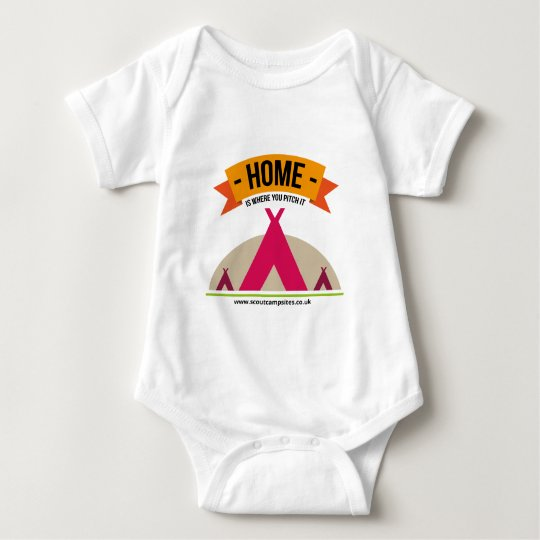 Home is where you pitch it baby bodysuit