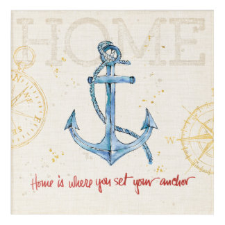 Home is Where You Set Your Anchor Acrylic Wall Art