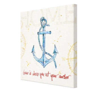 Home is Where You Set Your Anchor Canvas Print