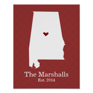 Home is Where Your Heart Is - Alabama Poster