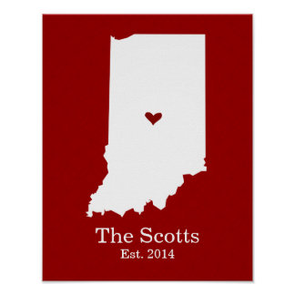 Home is Where Your Heart Is - Indiana Poster