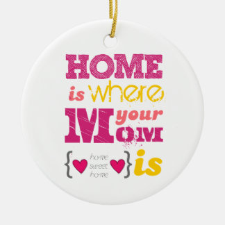 Home is where your mom is christmas ornament