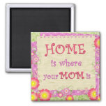 Home Is Where Your Mum Is Refrigerator Magnet