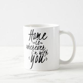 Home is wherever i'm with you mug