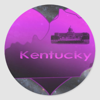 Home Kentucky Classic Round Sticker