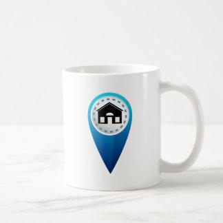 Home Location Icon Basic White Mug