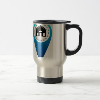 Home Location Icon Stainless Steel Travel Mug