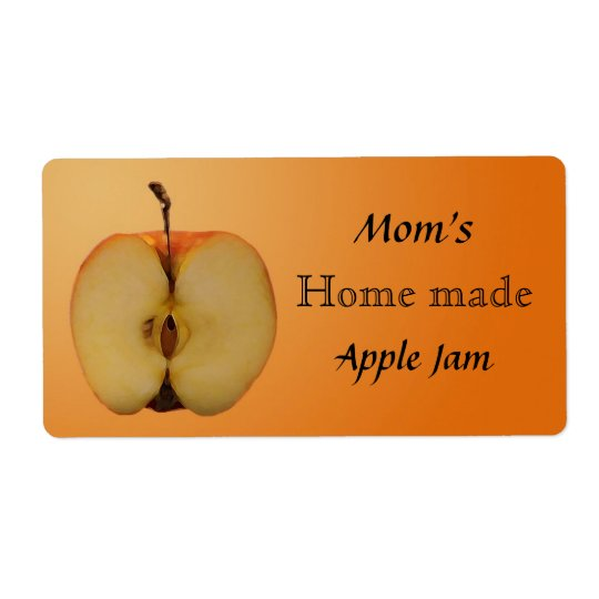 Home Made Apple Jam Jar Label