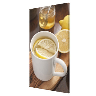 home made cold and flu remedy; lemons and honey canvas print