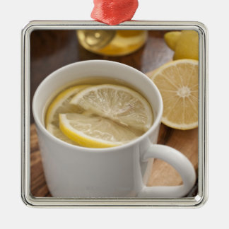 home made cold and flu remedy; lemons and honey christmas ornament