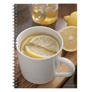 home made cold and flu remedy; lemons and honey spiral note book