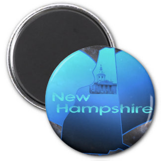 Home New Hampshire 6 Cm Round Magnet