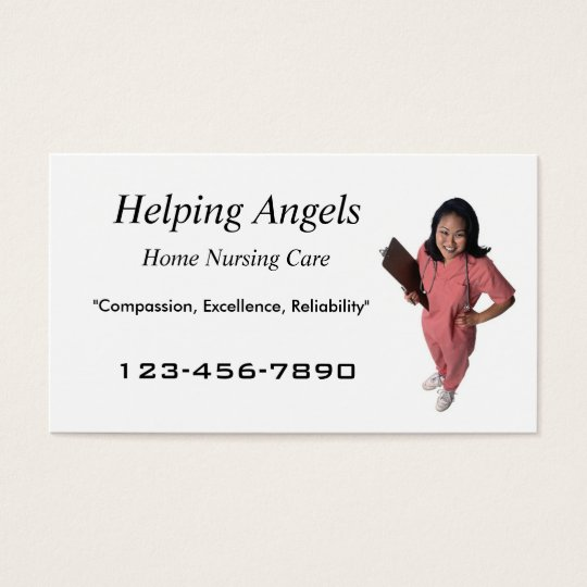 Home Nursing business card