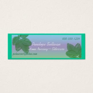 home nursing mini business card