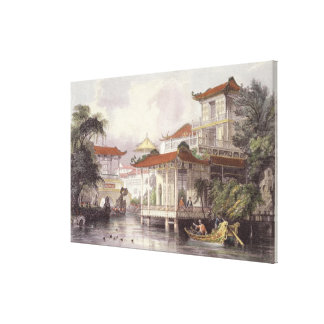Home of a Chinese Merchant near Canton, from 'Chin Canvas Print