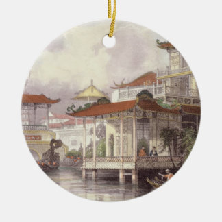 Home of a Chinese Merchant near Canton, from 'Chin Christmas Ornament