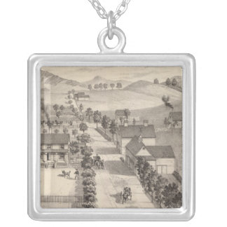 Home of Benjamin R Greeno in Rutland Silver Plated Necklace