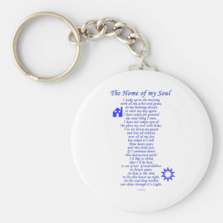 Home of My Soul Basic Round Button Key Ring