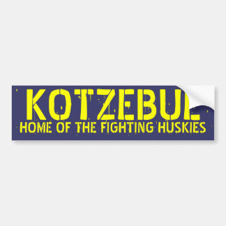 HOME OF THE FIGHTING HUSKIES BUMPER STICKER