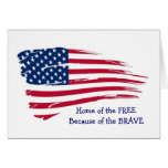 Home of the Free Wavy Flag Greeting Card