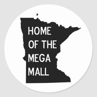 Home of the Mega Mall MN Silhouette Stickers