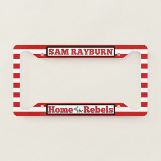 Home of the Rebels Striped License Plate Cover