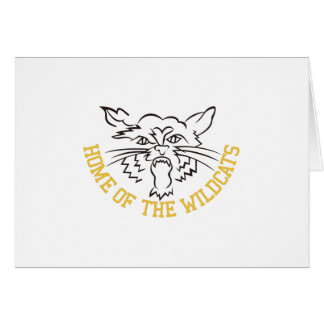Home of the Wildcats Greeting Card