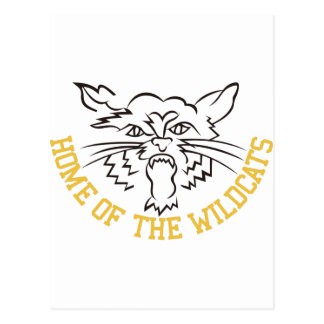 Home of the Wildcats Postcard