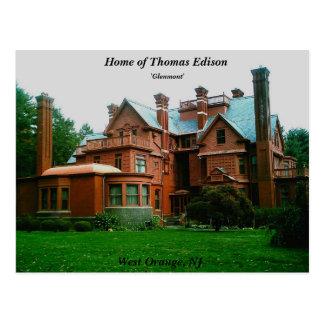 Home of Thomas Edison Postcard
