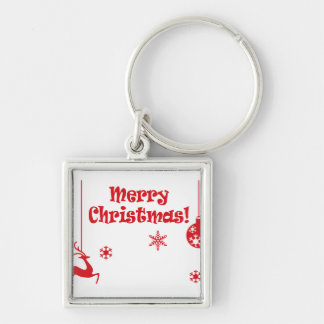 Home Office custom personalize business Destiny'S Silver-Colored Square Key Ring