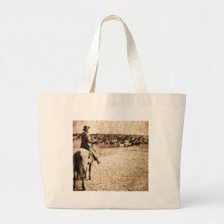 Home on the Range Vintage Cowboy Old West Tote Bag