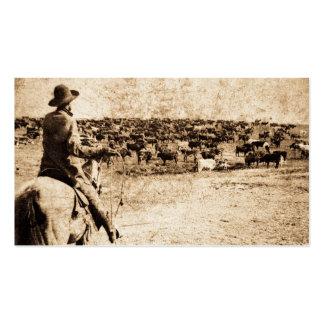 Home on the Range Vintage Cowboy Old West Pack Of Standard Business Cards