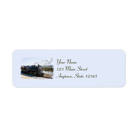 Home on the Train Christmas Return Address Labels