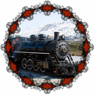 Home on the Train for Christmas Ornament Photo Sculpture Decoration