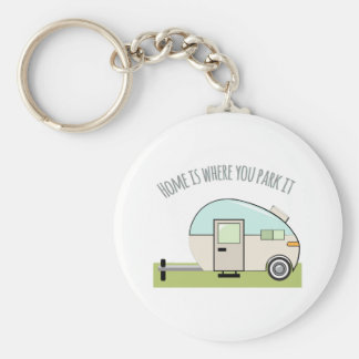 Home Park Basic Round Button Key Ring