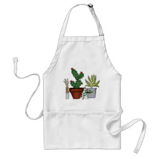 Home Potted Plants Doodle Art Standard Apron