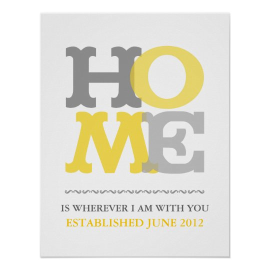 Home print or poster customise personalise