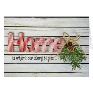 Home Quote and Pine Greeting Card