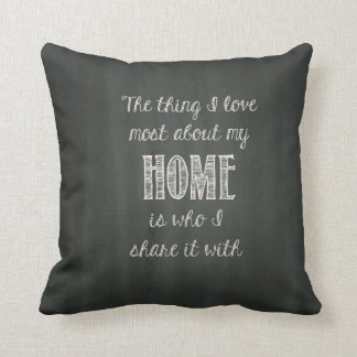 Home Quote Throw Pillow