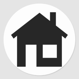 Home real estate round sticker