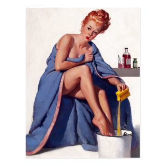 Home Remedy Pin Up Postcard