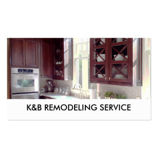Home Remodeling Service Pack Of Standard Business Cards