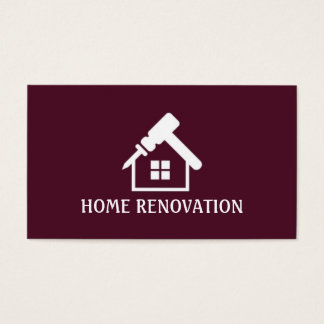 Home Renovation, Construction Business Card