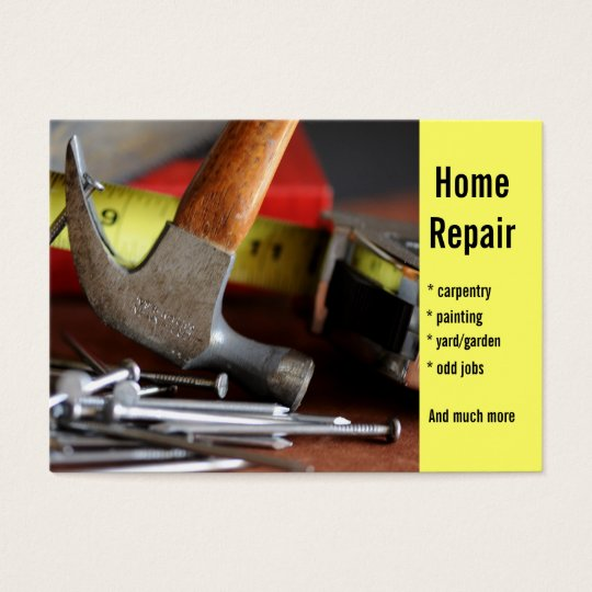 Home Repair, carpentry, painting  Business Card