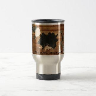 Home repair- no intructions needed! stainless steel travel mug